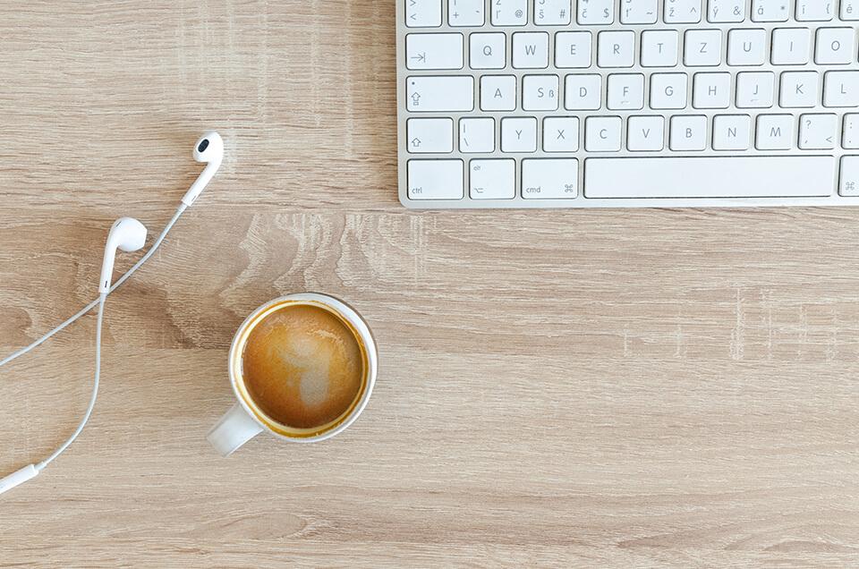 微糖のコーヒー