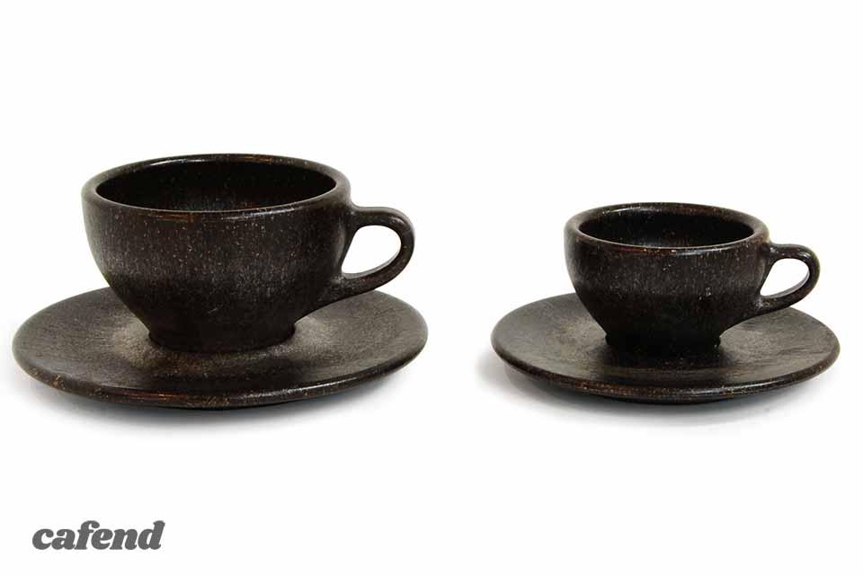 コーヒーかすカップ&ソーサー