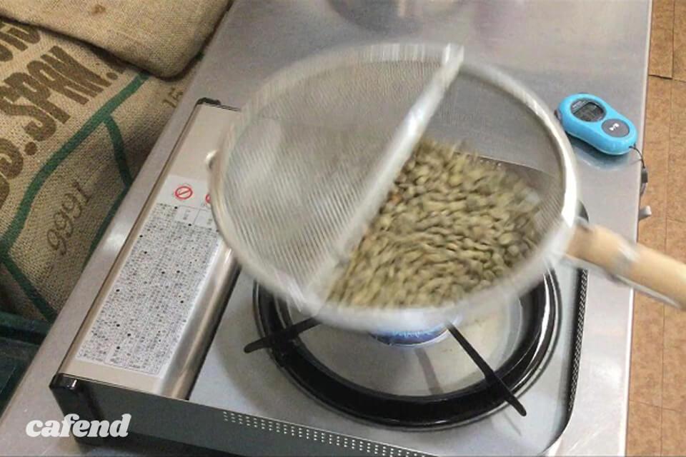 カフェカホン09自宅焙煎