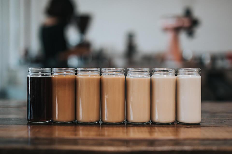 カスタマイズ例。コーヒーとミルクの量