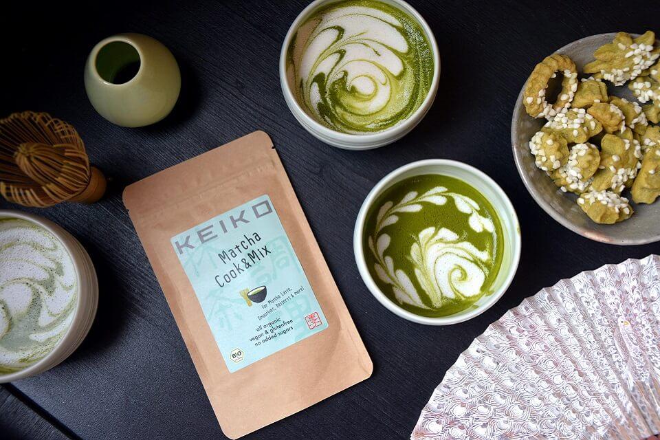 抹茶ドリンクパウダーは色んなテイストを開発中