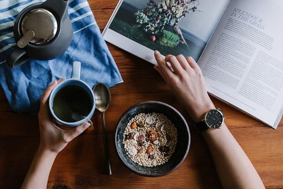朝ごはんとコーヒー