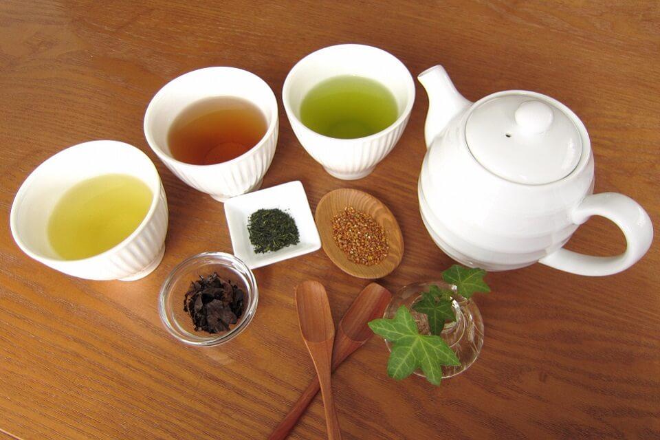 様々な種類の茶葉