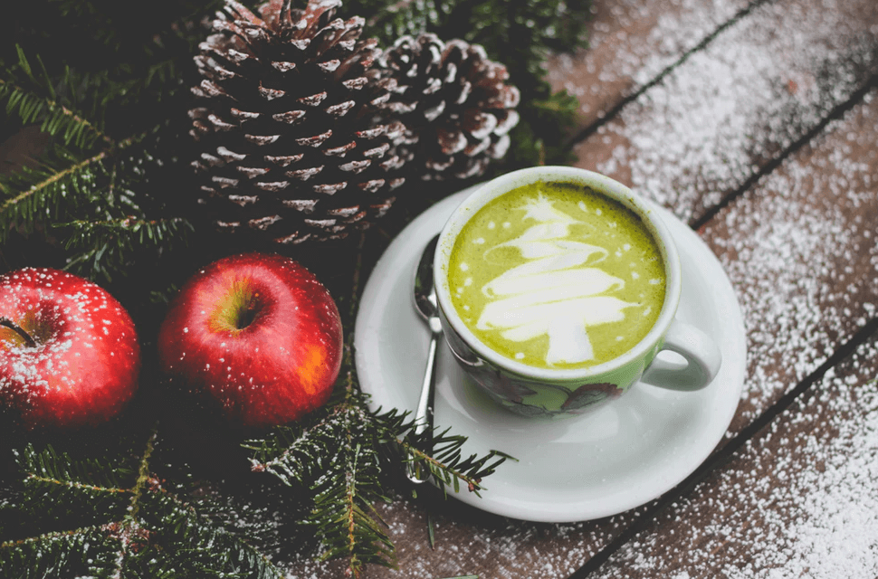 クリスマスのカフェ