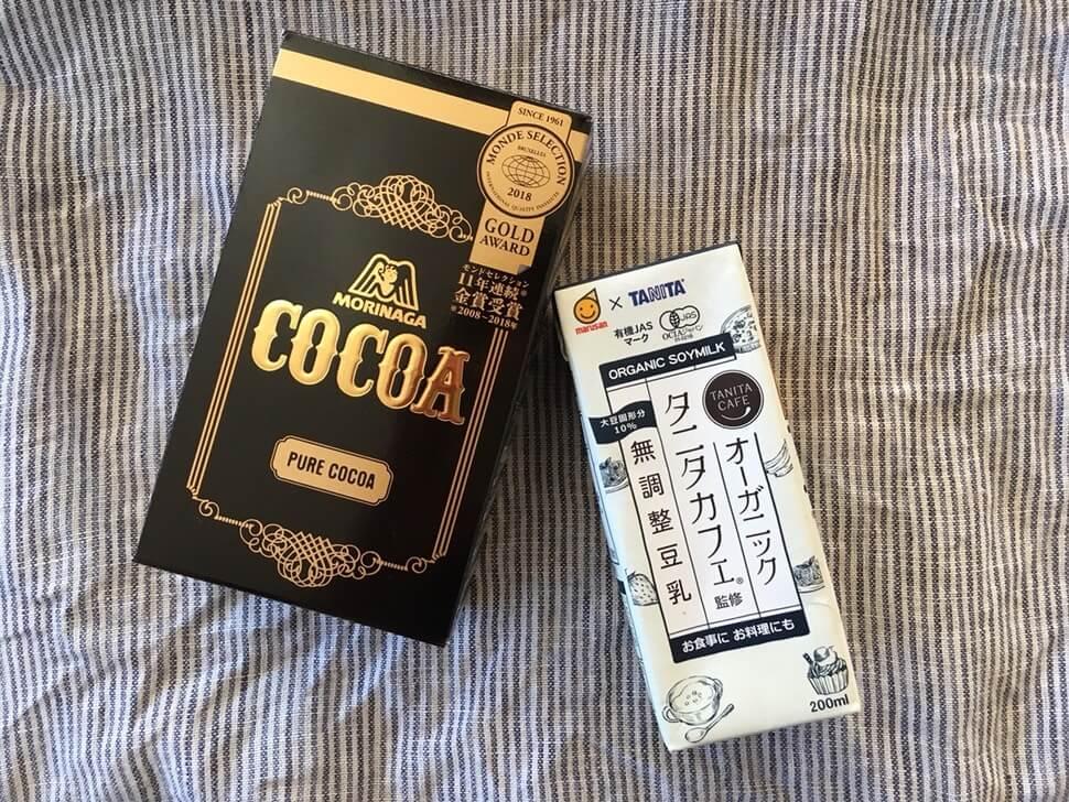 ココアと豆乳