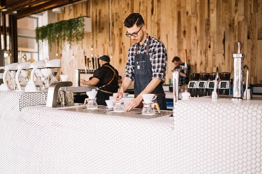 海外のコーヒーショップ