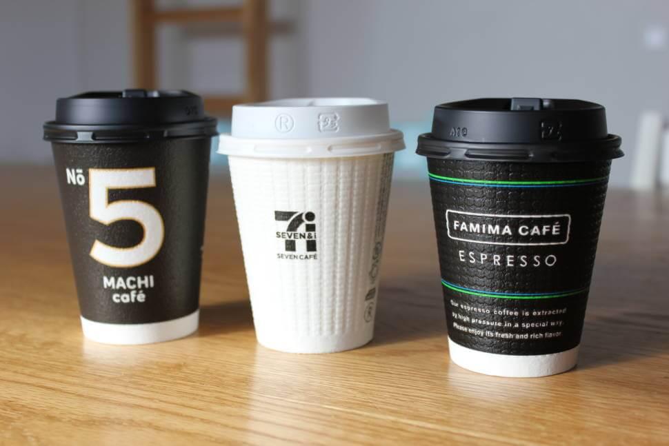 コンビニ3社のコーヒー