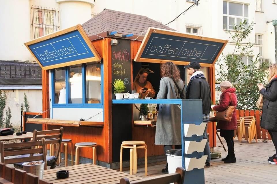 プラハのコーヒースタンド