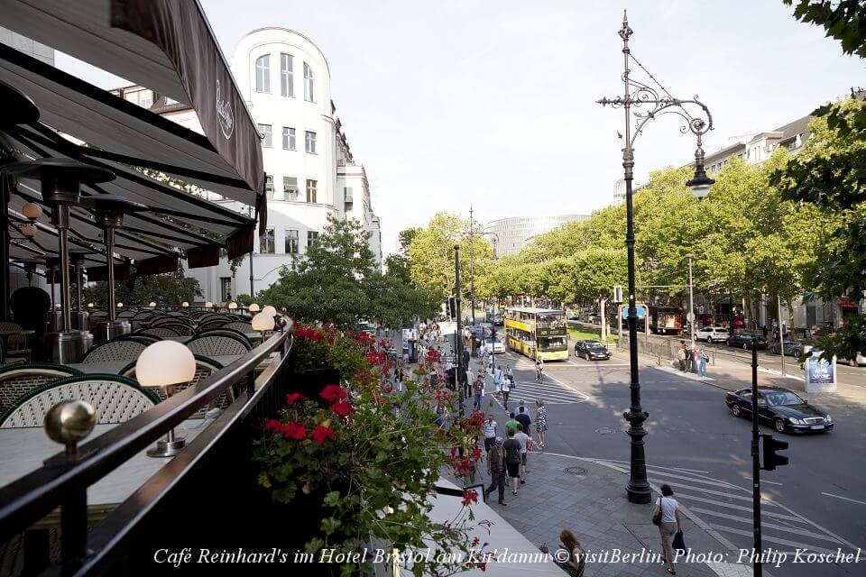 ベルリン、クーダムのカフェ・ラインハルト