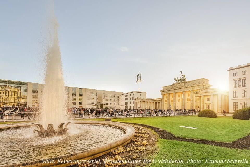 ベルリン中心部、ブランデンブルク門