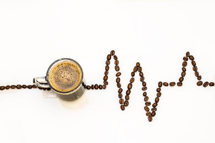 コーヒー豆とグラフ