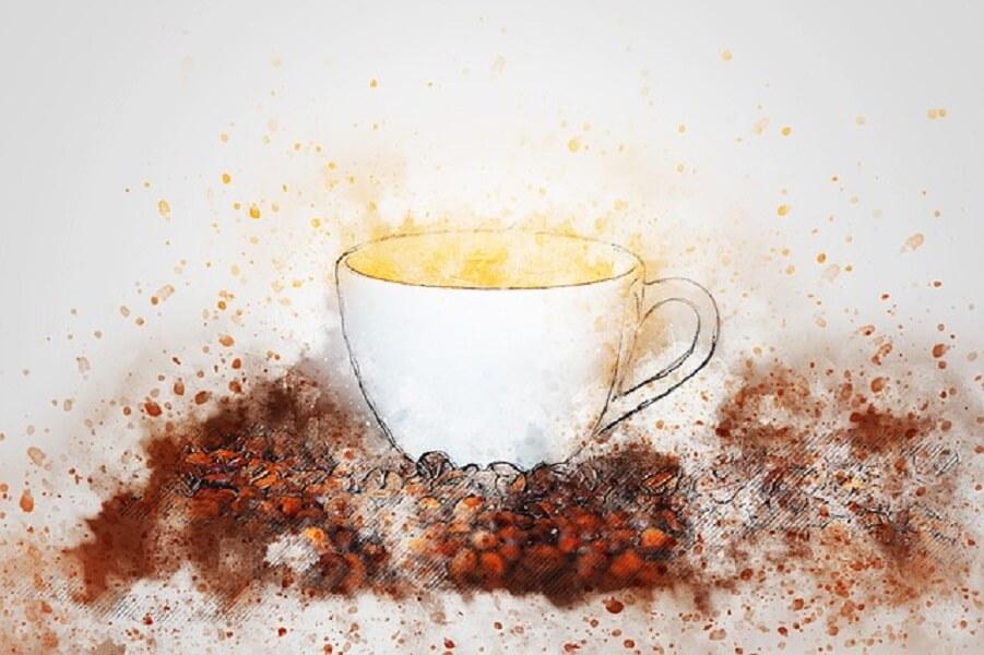コーヒーの絵