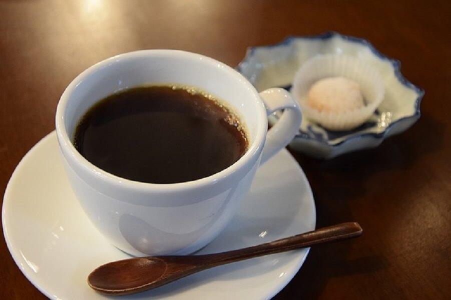 お茶請けとコーヒー