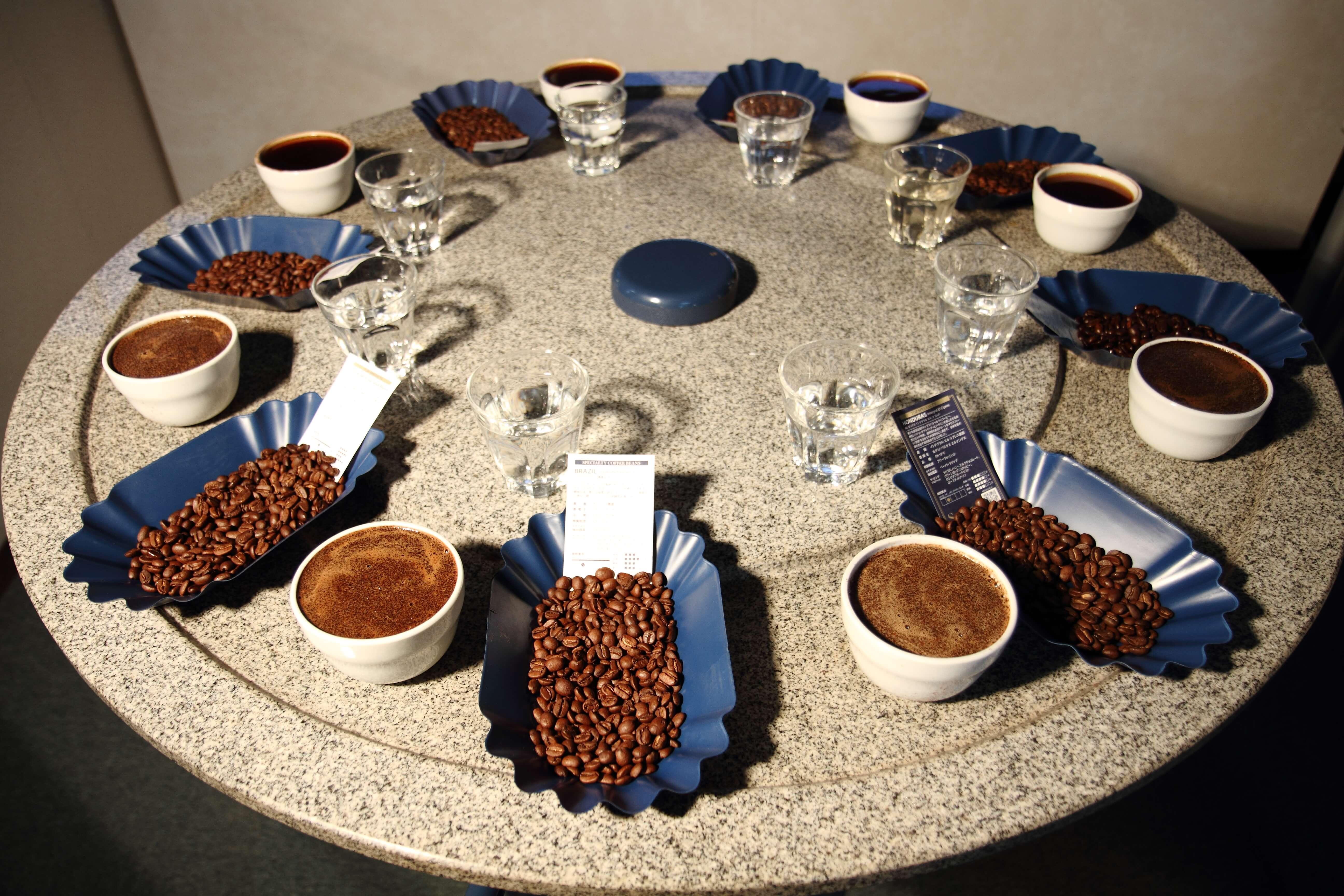 コーヒー農園の豆
