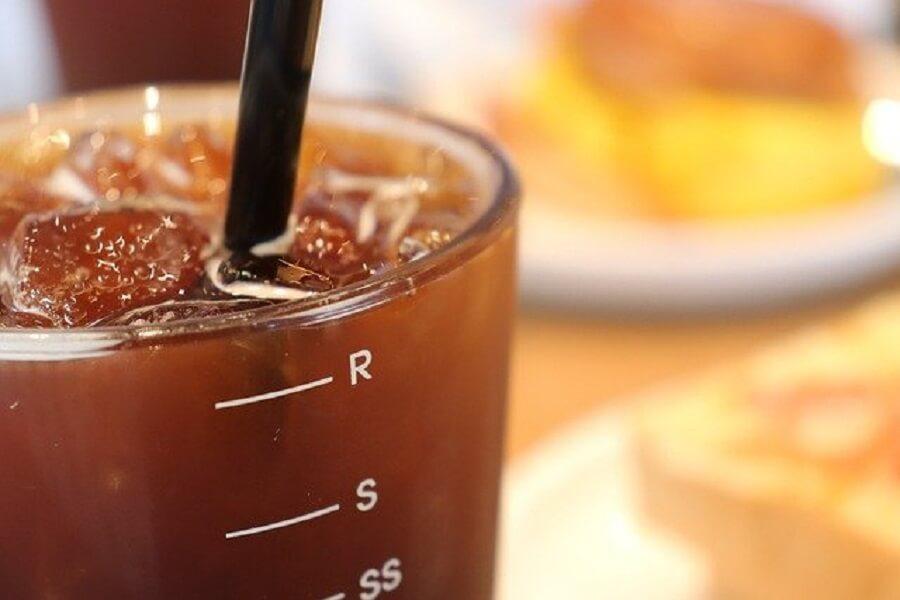朝食とアイスコーヒー