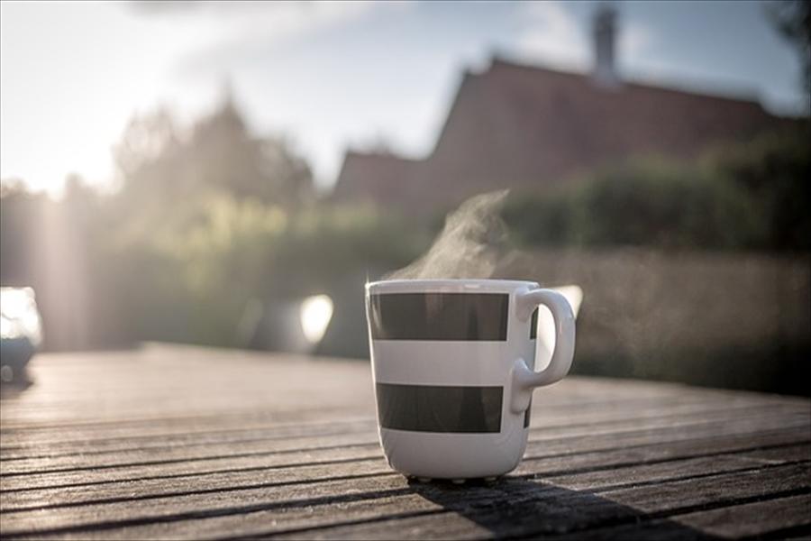 朝日とコーヒー